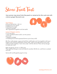 Stone Fruit Tart Recipe