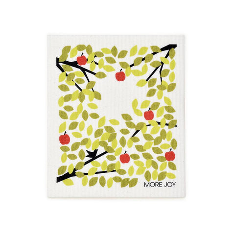 "Apple Tree Swedish Dishcloth | Green | 8"" x 6.75"" 