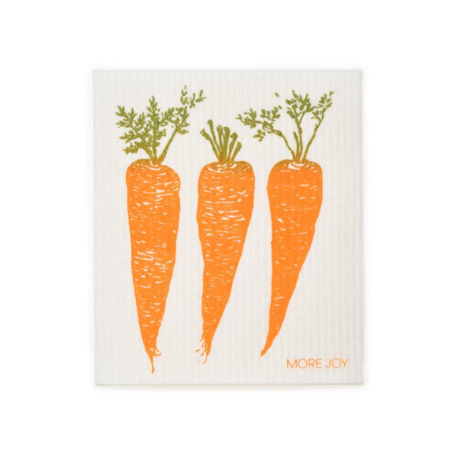 "Carrots Swedish Dishcloth | Orange | 8"" x 6.75"" 