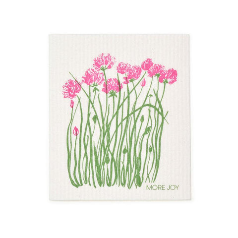 "Chives Swedish Dishcloth | Pink | 8"" x 6.75"" 