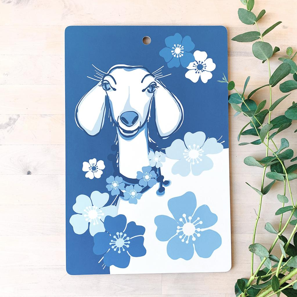 Cutting Board | Goat | Plywood & Melamine Cutting Board sweetgum textiles company, LLC