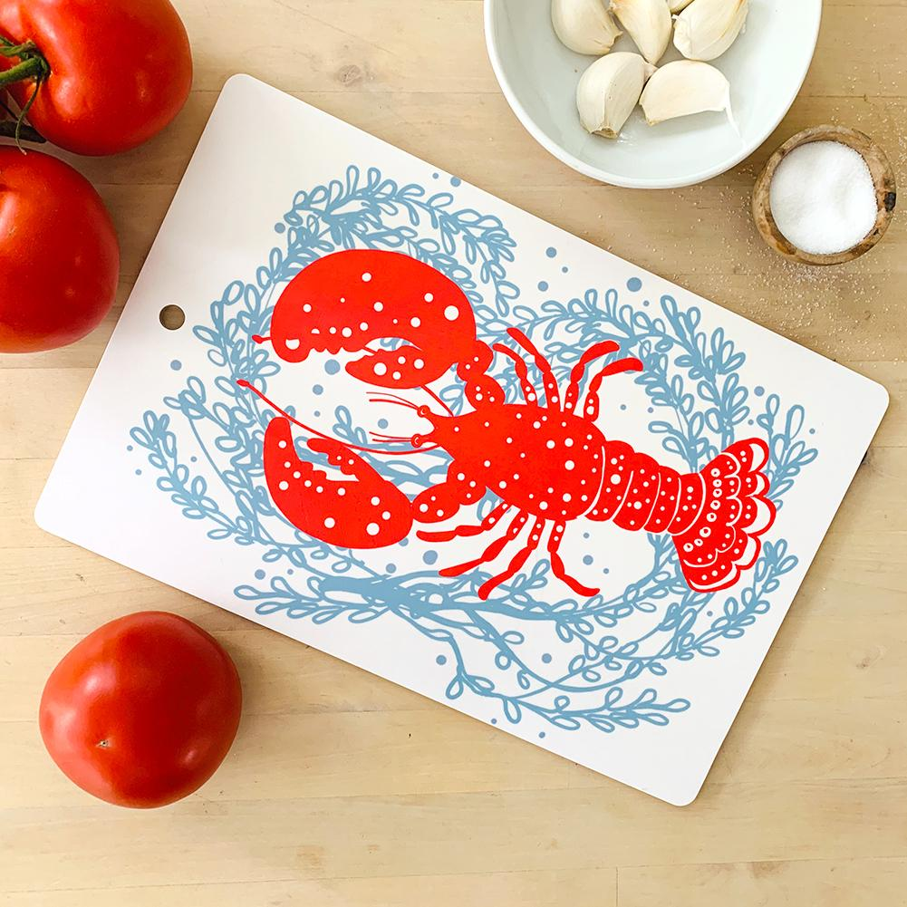 Cutting Board | Lobster | Red | Plywood & Melamine sweetgum textiles company, LLC