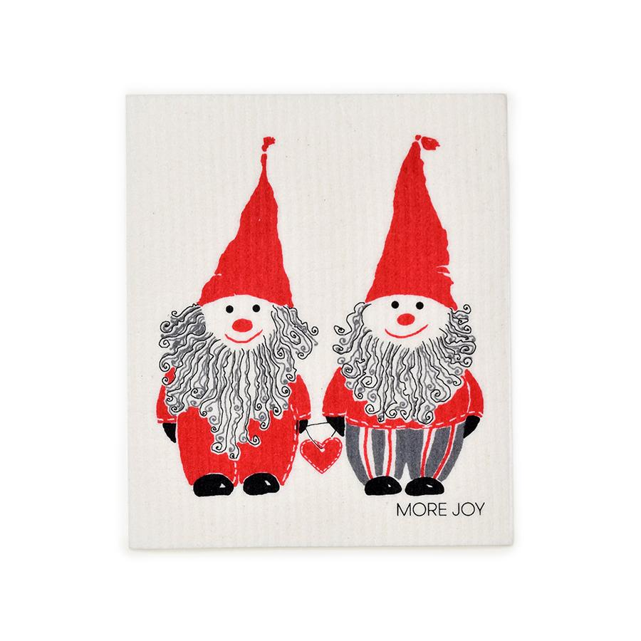"Elves of Wonderland Swedish Dishcloth | Red | 8"" x 6.75"" 