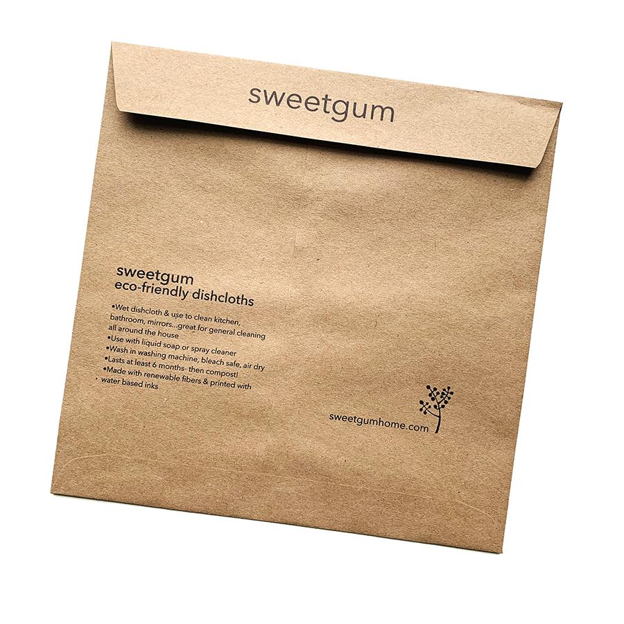 Envelope for Swedish Dishcloth sweetgum textiles company, LLC