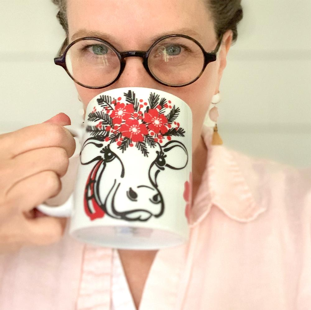 Happy Cow Mug Mug sweetgum textiles company, LLC