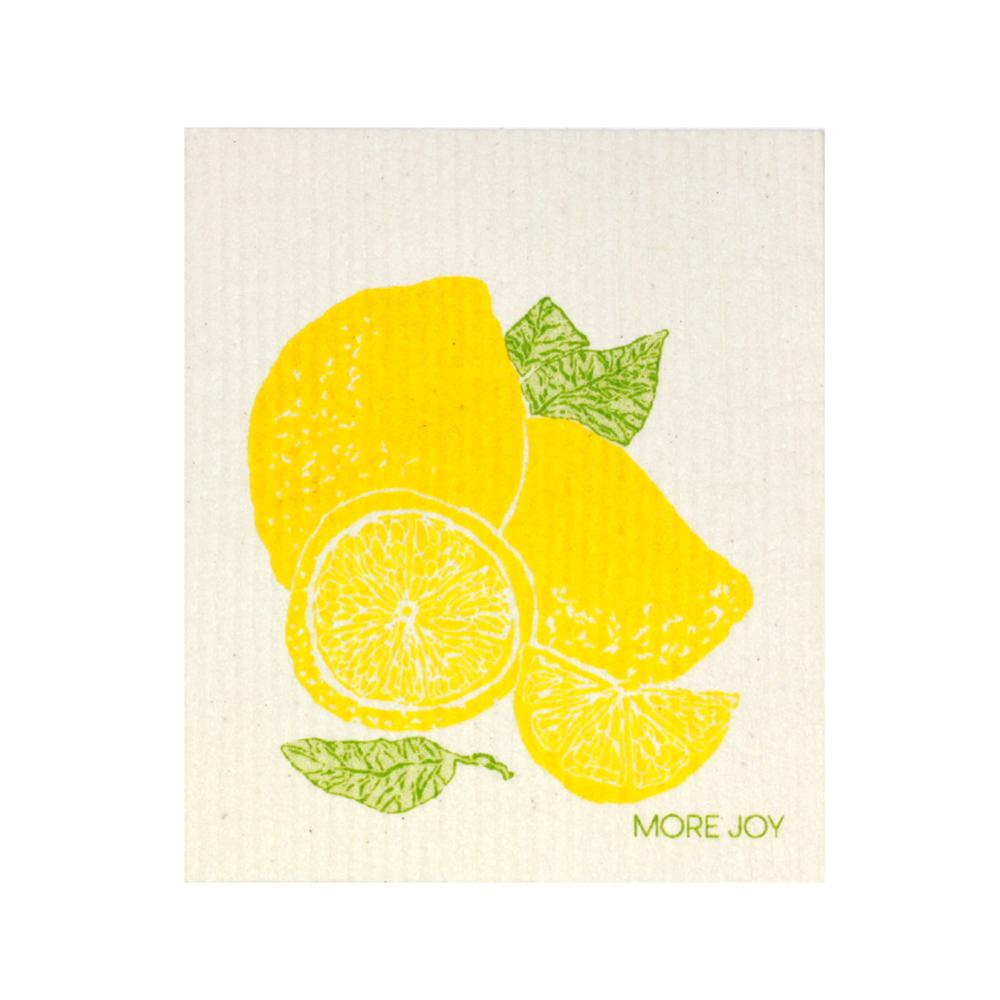 "Lemon Swedish Dishcloth | Yellow | 8"" x 6.75"" 