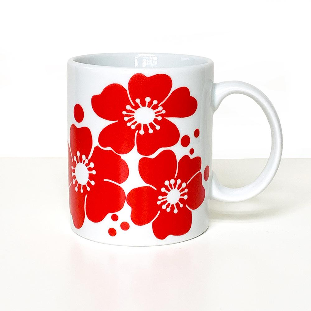 Red Flowers Mug Mug sweetgum textiles company, LLC