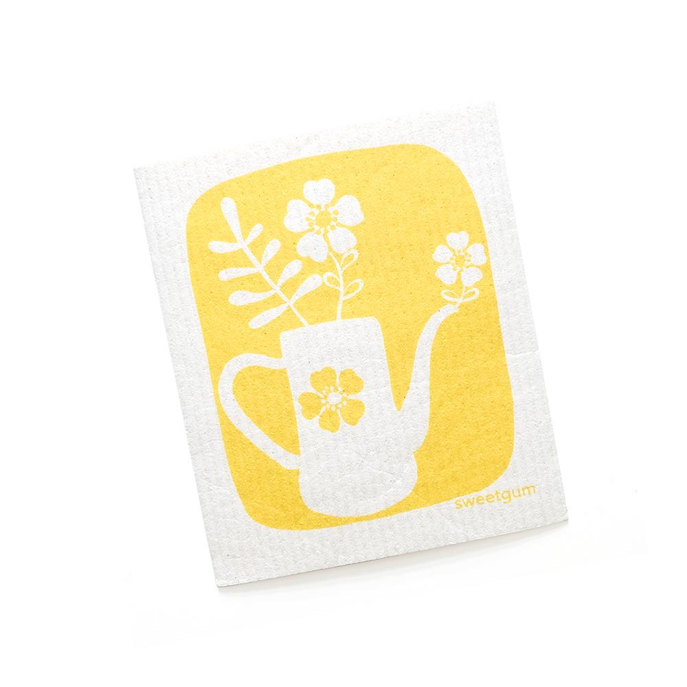 Tea pot Swedish Dishcloth | Yellow | Sweetgum Home Swedish Dishcloths sweetgum textiles company, LLC