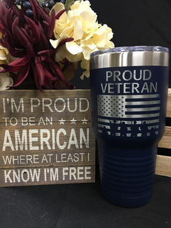 Proud Veteran 30oz Tumbler