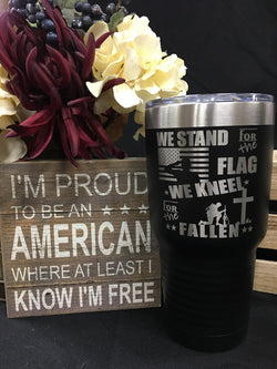 Stand for the Flag 30oz Tumbler