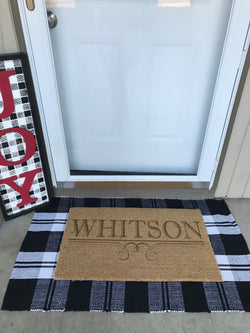 Family Name Coir Doormat
