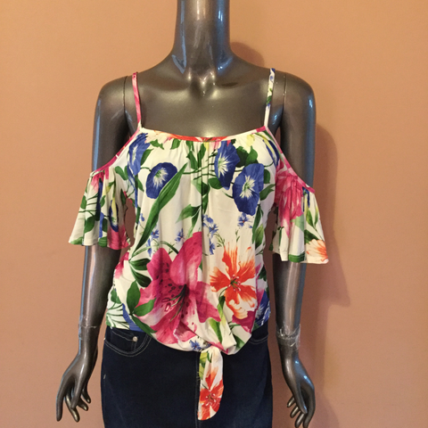 Cold Shoulder Floral Top