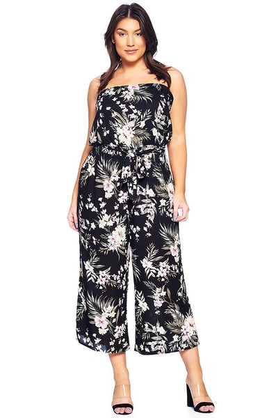 Strapless Tube Top Casual Jumpsuit