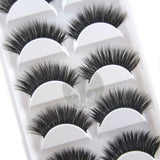 5 pairs Luxurious Cross Natural Long Thick Eyelashes