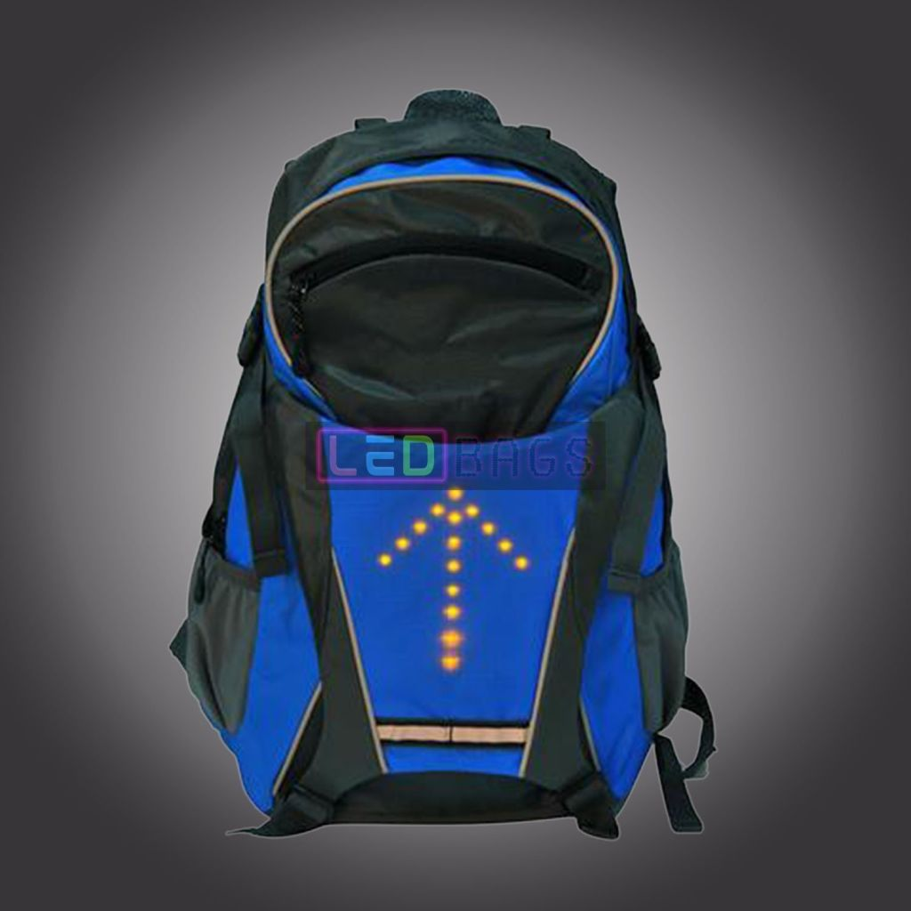 Led-Bags:  Cycling Led Reflective Safety Backpack Bag With Remote Control Led Bags
