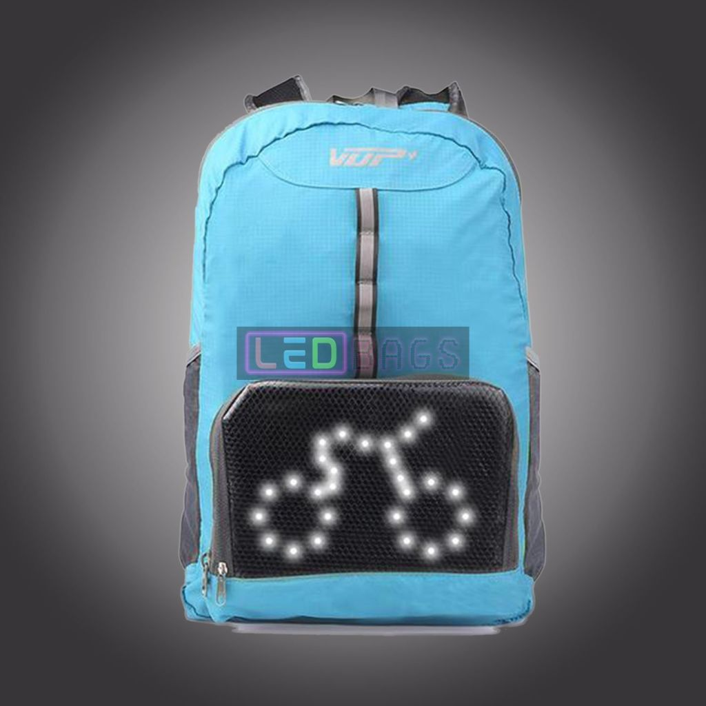 Led-Bags:  Safety Riding Backpack Waterproof Smart Led Turn Signal Lights Sports Bag Led Bags