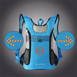 Buy Cycling Turn Signal Light Led Reflective Backpack Waterproof With The Best Price In Our Online Shop Blue Led Bags