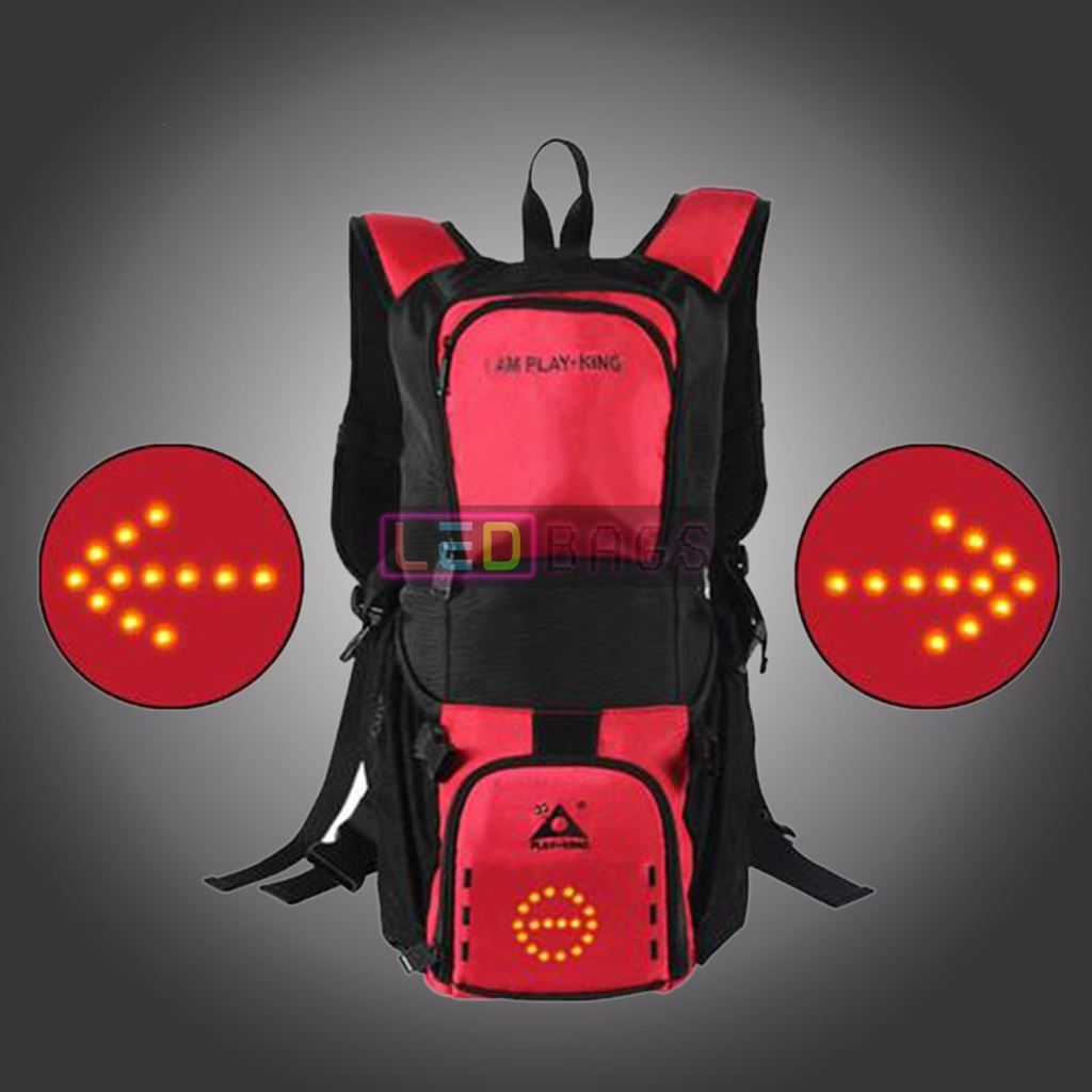 Buy Led Cycling Backpack Bag Waterproof Wireless Control With The Best Price In Our Online Shop Red Led Bags