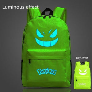 Buy Pokemon Fluorescent Paint Print Backpack School Bag For Teenager In Our Online Shop Green Led Bags