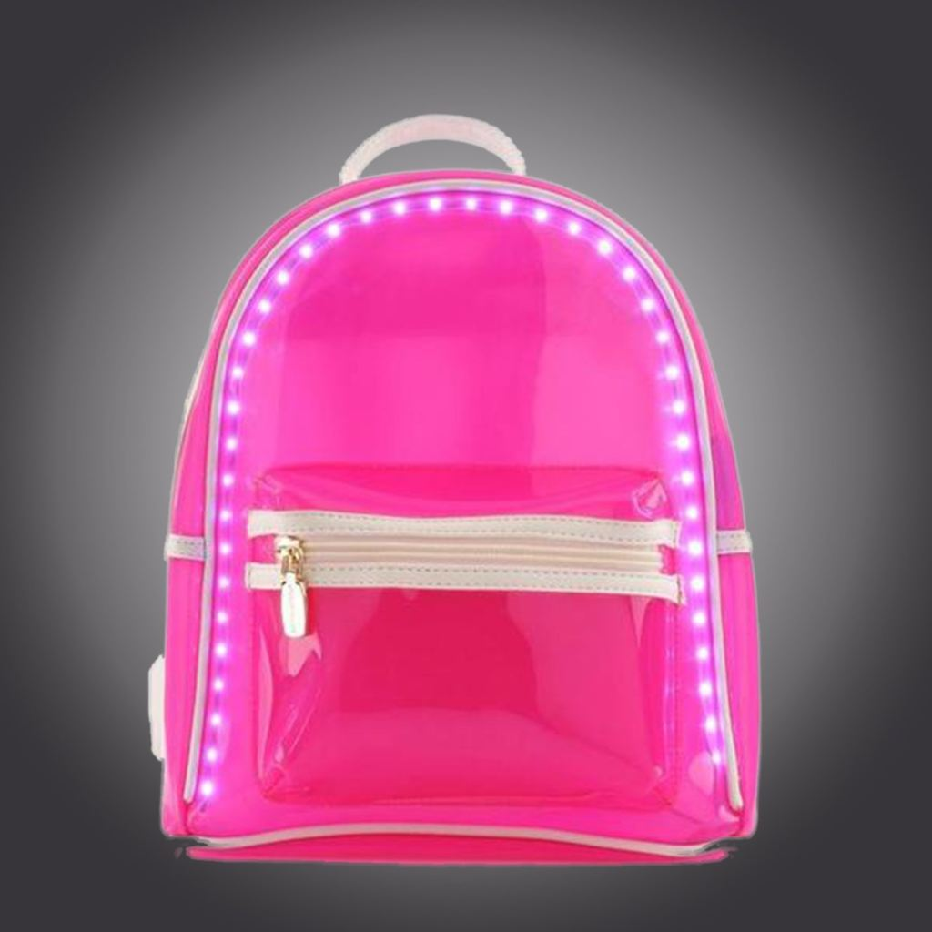 Buy Women Summer Led Backpack Flash Light Transparent Beach Woman Travel Bag In Our Online Shop Rose Led Bags