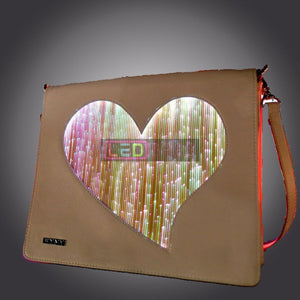 Led-Bags:  Crossbody Light Up Fibre Optic Clothing Heart Bag Led Bags