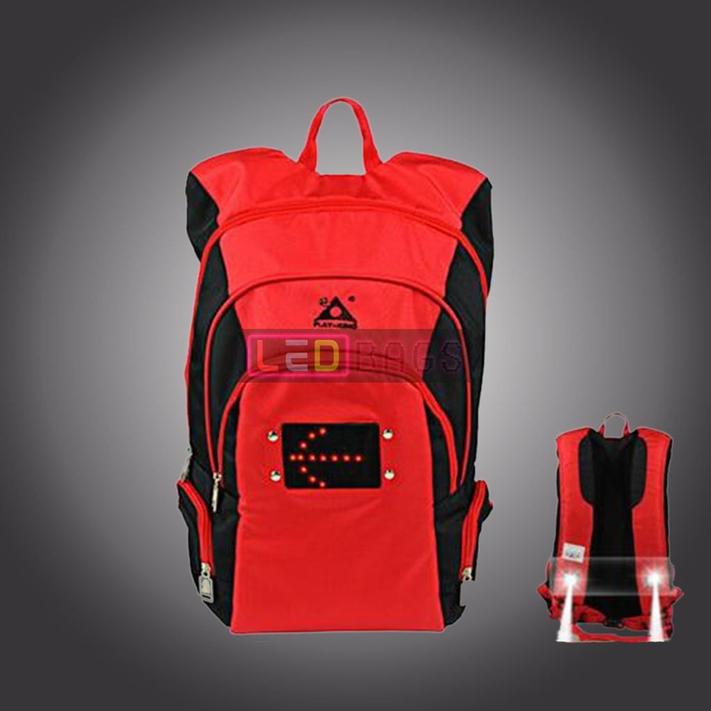 Led-Bags:  Led & Spotlight Backpack With Steering Light Pack For Men Women To Mountain Bike Sports Led Bags