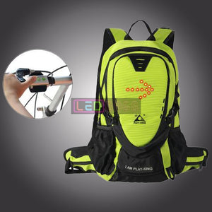 Led-Bags:  Cycling Led Reflective Safety Backpack With Remote Control For Night Riding Green Led Bags