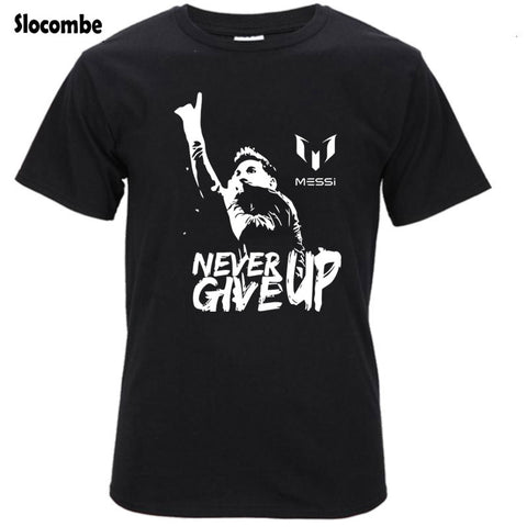 ea330c992 Leo Messi NEVER GIVE UP T-Shirt