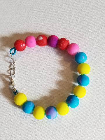 Multi Colored Kids Handmade Bracelet - Meraki by Misty