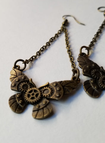 Steam Punk Inspired Butterfly Handmade Earrings - Meraki by Misty
