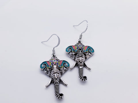 Tibetan Silver Elephant Earrings - Meraki by Misty