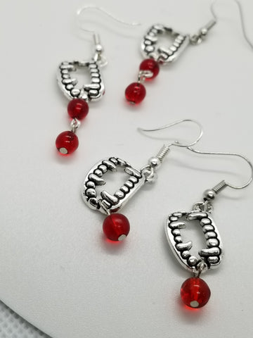 "Vampire ""Bitten"" Earrings - Halloween Themed - Meraki by Misty"