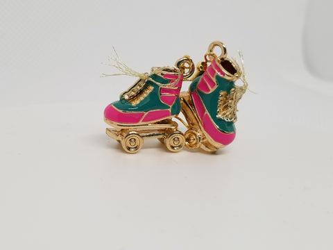 Retro Skates, Multi Colored Hand Crafted Earrings