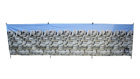 STONE WALL 4 POLE COMPACT WINDBREAK (STEEL POLES)