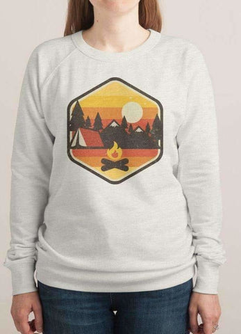 RETRO CAMPING WOMEN SWEAT SHIRT