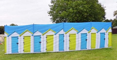 BEACH HUTS 4 POLE COMPACT WINDBREAK (STEEL POLES)