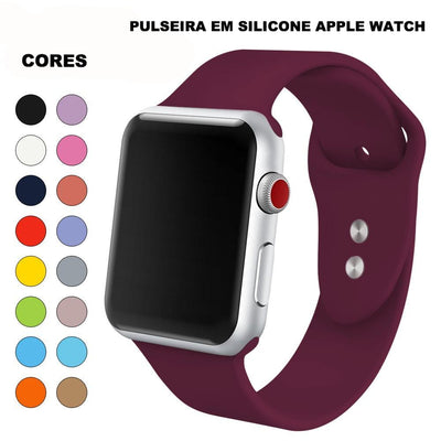 Pulseira de Silicone Extra Light Apple Watch - Varias Cores