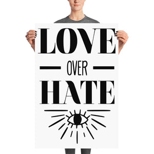 LOVE OVER HATE POSTER