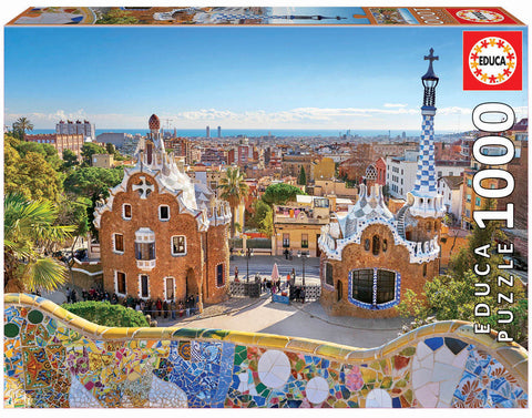 Barcelona View Park Guell Educa Puzzle (1,000 pieces)