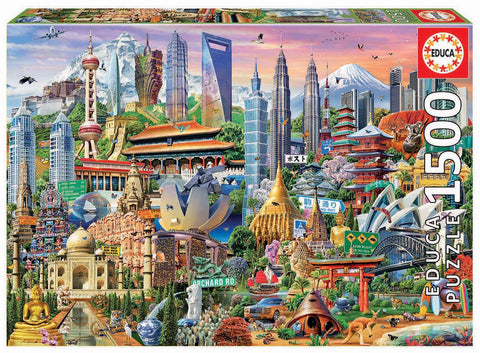 Asia Landmarks Educa Puzzle (1,500 pieces)