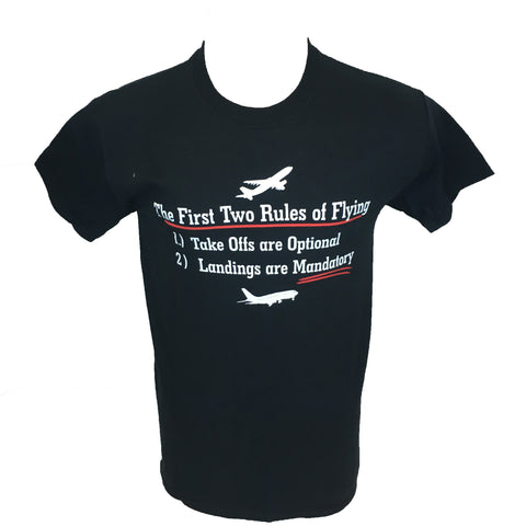 First two rules of flight t-shirt