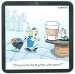 One Grande - Jetlagged Comic Coaster