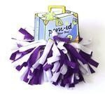 Pom-ID Luggage Poms - Purple & White