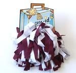 Pom-ID Luggage Poms - Burgundy & White