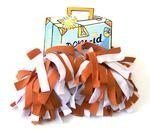 Pom-ID Luggage Poms - Burnt Orange & White