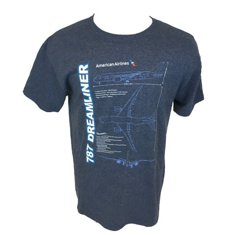 AA 787 Schematic T-shirt