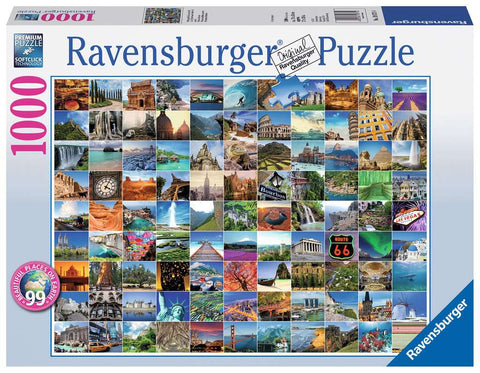 99 Beautiful Places on Earth Puzzle (1,000 pieces) by Ravensburger