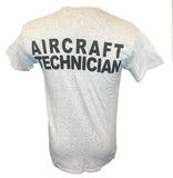 AA Aircraft Maintenance T-shirt Back Gray