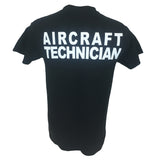 AA Aircraft Maintenance T-shirt Black Back