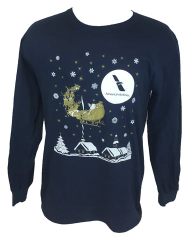 AA Santa Sleigh Long Sleeve T-Shirt